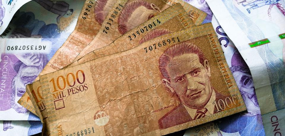 peníze Kolumbie